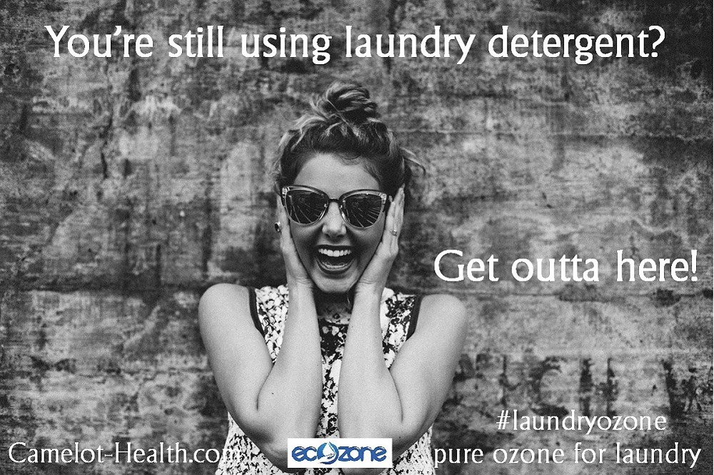 are you still using laundry detergent? On demand ozonated water is clean powerful harmless