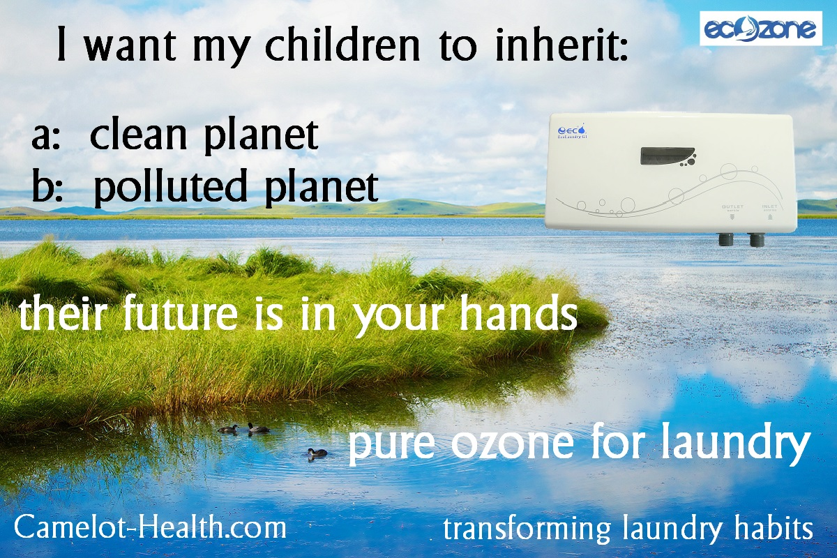 leave a clean environment for your children by using ozone laundry machine