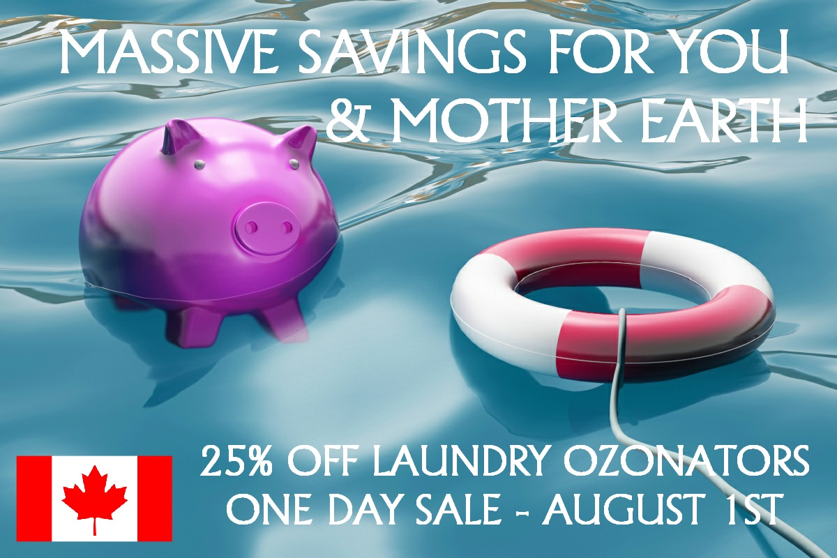 one day sale of laundry ozonators