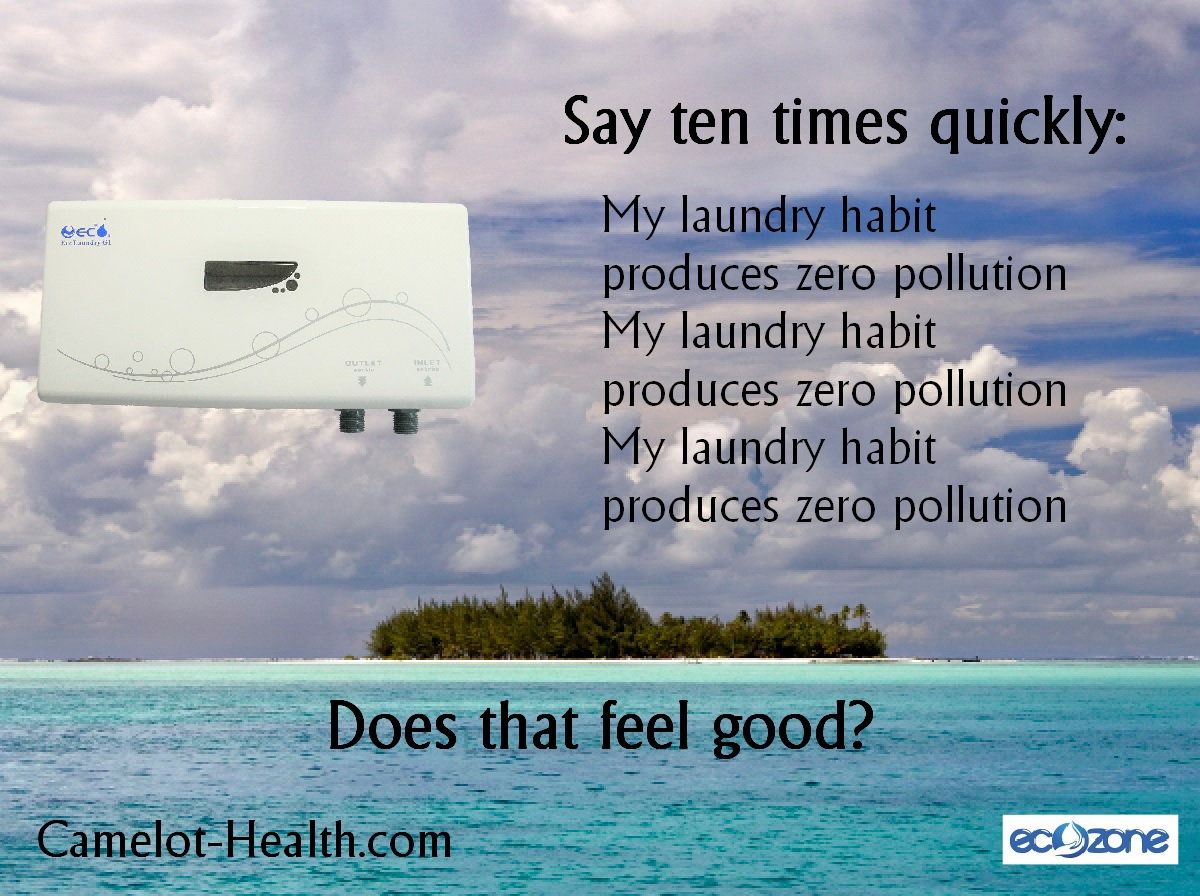 using ozone for laundry creates zero pollution