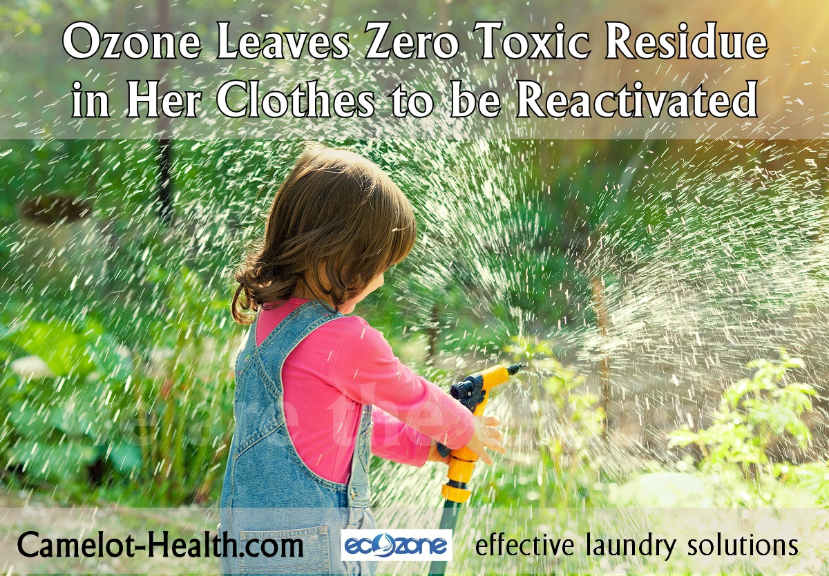 are you reactivating laundry detergent residue in the clothes you are wearing?